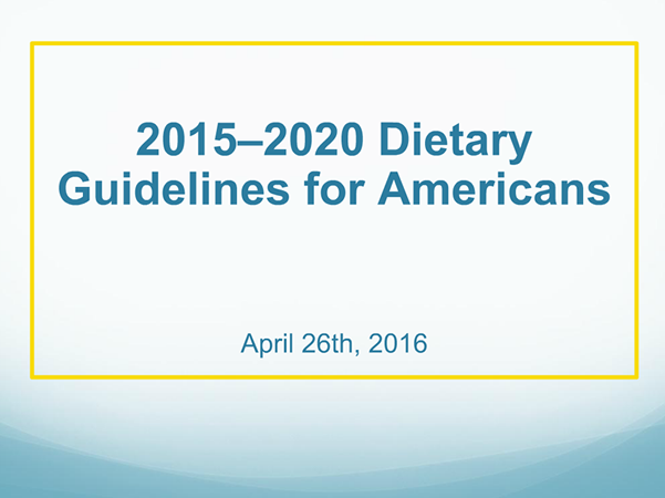 Dietary guidelines 2015-2020