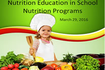 Nutrition in schools training.
