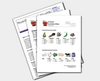 Resource nutrition sheet.