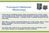 Transport webinar guide.