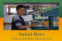 Kid at a salad bar.