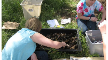 Participants helped to set up a worm box and explored the benefits of compost