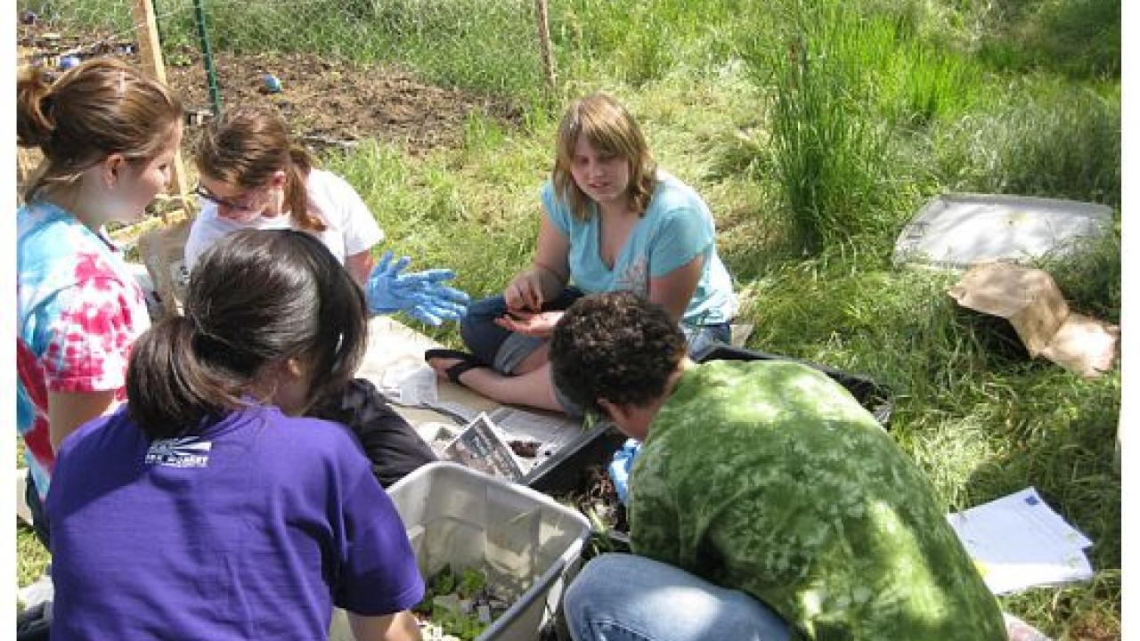 Garden lessons included making a worm box and learning about the importance of composting