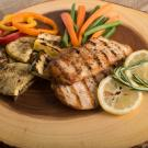 grilled chicken and vegetbles
